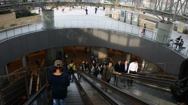 Japan escalator
