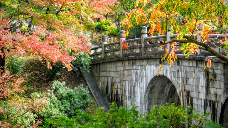Kyoto stone bridge